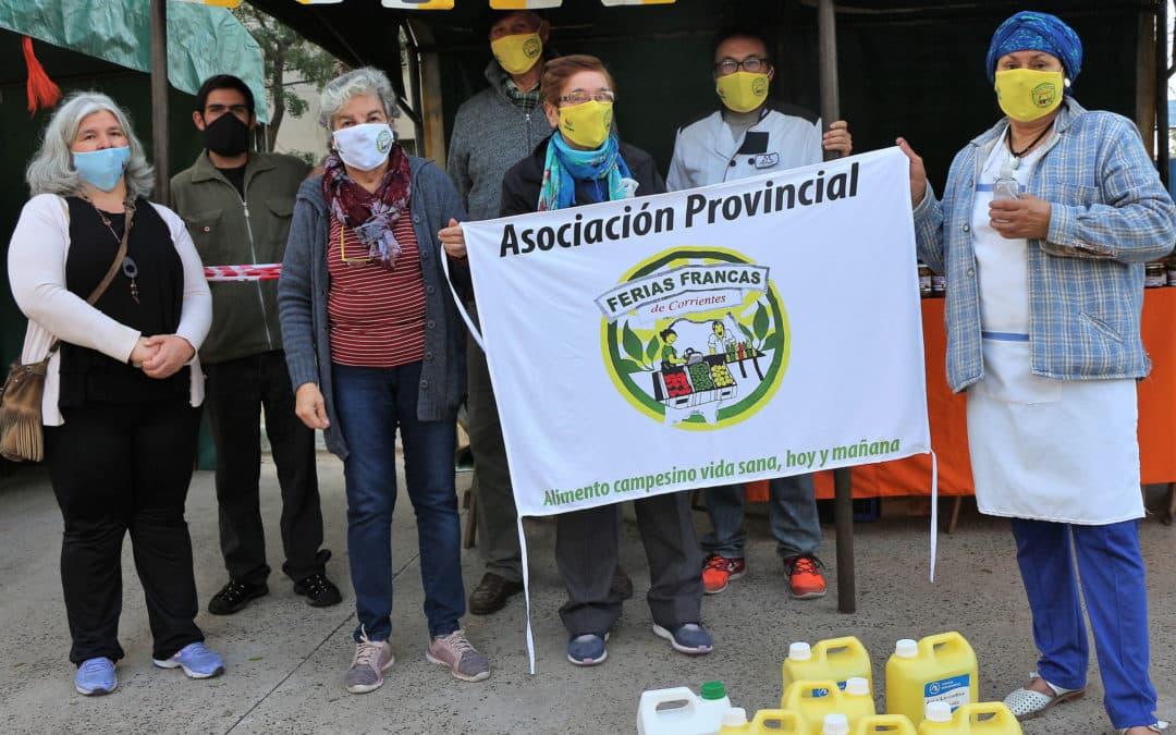 Feriantes del Gran Chaco recibieron insumos que garantizan condiciones sanitarias en la venta de alimentos